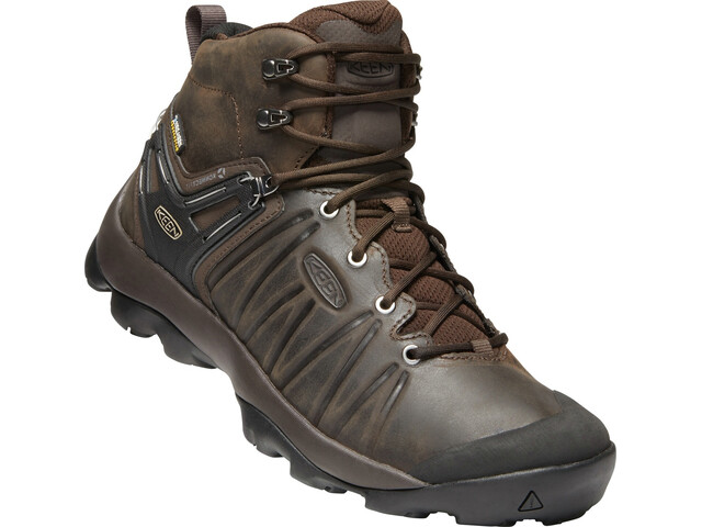 Keen Venture WP Mid Leather Shoes Herre Mulch/Black